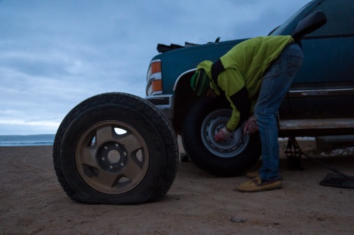 Taking care of a flat tire
