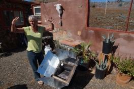 Sandra showing us her solar oven