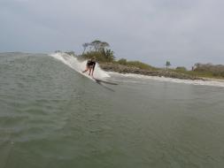 Longboard fun on the first day in San Blas