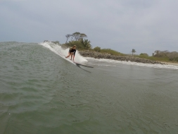 Longboard fun on the first day in San Blas