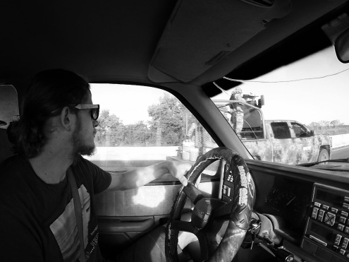 Road tripping with friendly men with machine guns