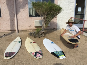 Markus, the Mexican, getting the quiver ready for Fiji