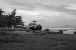 Helicopter evacuation from G-land