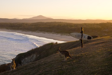 surfsmurf heaven: kangaroos AND waves