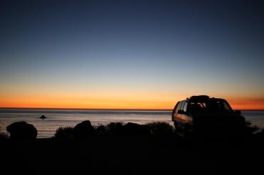 Camping along Big Sur
